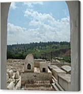 Jewish Cemetery In Morocco Canvas Print