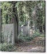 Jewish Cemetery Weissensee Berlin Germany Canvas Print