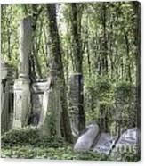 Jewish Cemetery Weissensee Berlin Canvas Print