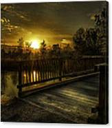 J.f. Gregory Park Sunset Canvas Print