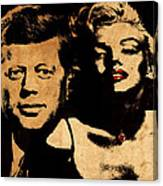 Jfk And Marilyn Canvas Print