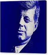 Jfk - Blue Canvas Print