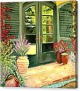 Jill's Patio Canvas Print