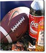 Jim Beam Coke And Football Canvas Print
