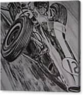 Jim Clark At Monaco 64 Canvas Print