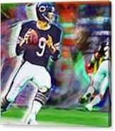 Jim Mcmahon With Walter Payton Chicago Bears Canvas Print