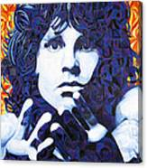 Jim Morrison Chuck Close Style Canvas Print