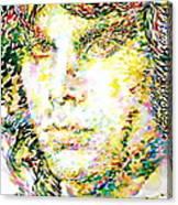 Jim Morrison Watercolor Portrait.2 Canvas Print