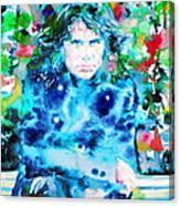 Jim Morrison Watercolor Portrait.3 Canvas Print