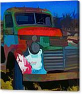 Jimmy In Taos - Abstract Canvas Print