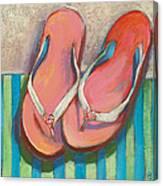 Pink Flip Flops Canvas Print