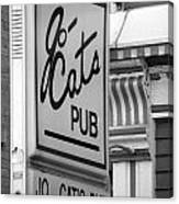 Jo Cats Pub Canvas Print