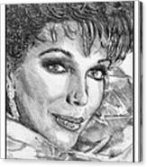 Joan Collins In 1985 Canvas Print