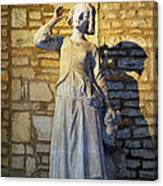 Joan Of Arc Hearing Voices By Francois Rude Canvas Print
