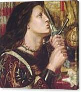 Joan Of Arc Kisses The Sword Of Liberation Canvas Print