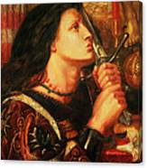 Joan Of Arc Kissing The Sword Canvas Print
