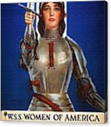Joan Of Arc War Stamps Poster 1918 Canvas Print