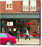 Joblo Restaurant Steakhouse Rue Wellington Verdun Montreal Cafe City Scenes Carole Spandau Canvas Print