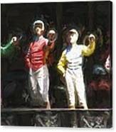 Jockeys In A Row Canvas Print
