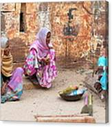 Jodhpur Fort Sweepers Canvas Print