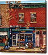 Joe Beef Restaurant Montreal Canvas Print