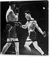 Joe Louis Right In Boxing Match Canvas Print