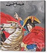 Joe Perry On Horse Canvas Print