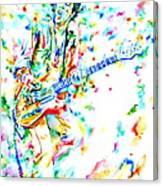 Joe Strummer Playing Live Canvas Print