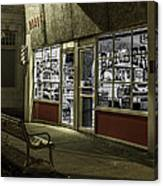 Joe's Barber Shop Canvas Print