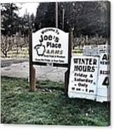 Joe's Place Farms Canvas Print