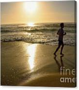Jogging At Sunrise By Kaye Menner Canvas Print