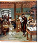 Johann Gutenberg's Printing Press Canvas Print