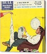 John Bull 1950s Uk Dish Washing Canvas Print