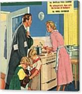 John Bull 1957 1950s Uk Cooking Canvas Print