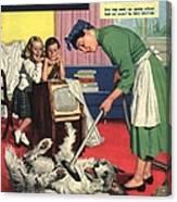 John Bull 1957 1950s Uk Dogs Cleaning Canvas Print
