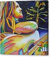 John Butler And Moon Canvas Print