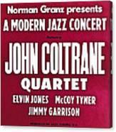 John Coltrane Quartet In Sweden Canvas Print