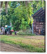 John Deere - Old Tractor Shed Canvas Print