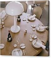 John Dickinson's Dining Table Canvas Print
