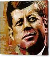 John F. Kennedy Canvas Print