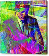 John Fitzgerald Kennedy Jfk In Abstract 20130610v2 Canvas Print