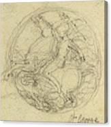 John Flaxman, British 1755-1826, Design For A Medal Canvas Print