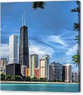 John Hancock Chicago Skyline Panorama Canvas Print