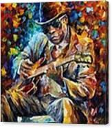 John Lee Hooker - Palette Knife Oil Painting On Canvas By Leonid Afremov Canvas Print