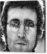 John Lennon Mosaic Image 16 Canvas Print