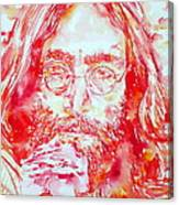 John Lennon With Rose Canvas Print