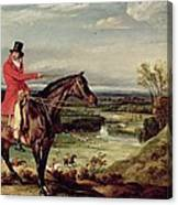 John Levett Hunting In The Park At Wychnor Canvas Print