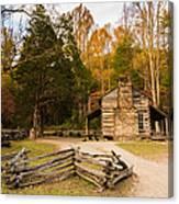 John Oliver Pioneer Cabin Canvas Print