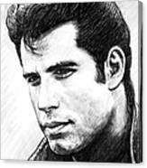 John Travolta Art Drawing Sketch Portrait Canvas Print