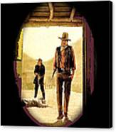 John Wayne And Jack Elam Publicity Photo Rio Lobo 1970 Old Tucson Canvas Print